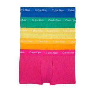 Calvin Klein 5 Multi Cotton Low Rise Tank Pride M